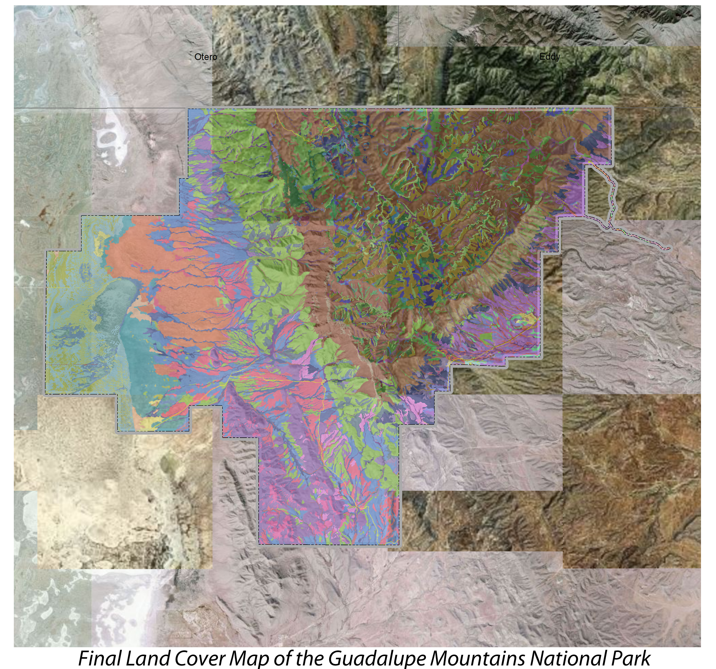 Guadalupe Mountains National Park Land Cover Mapping Project Earth