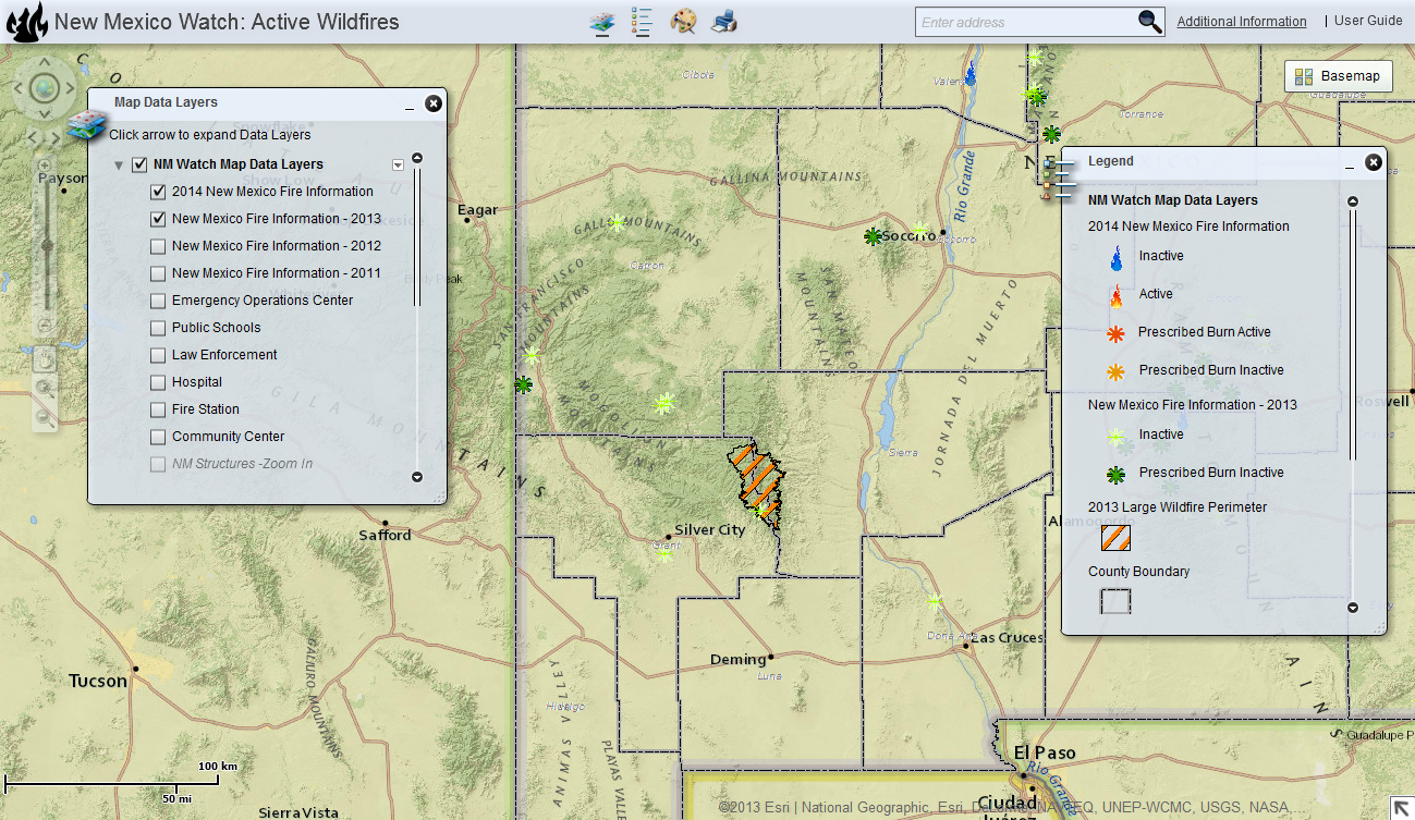 Fires In New Mexico Map New Mexico Watch – Active Wildfire Mapping Site | Earth Data